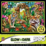 Cuy Games - 500 PIEZAS - MYSTERY OF THE JUNGLE GLOW IN THE DARK -