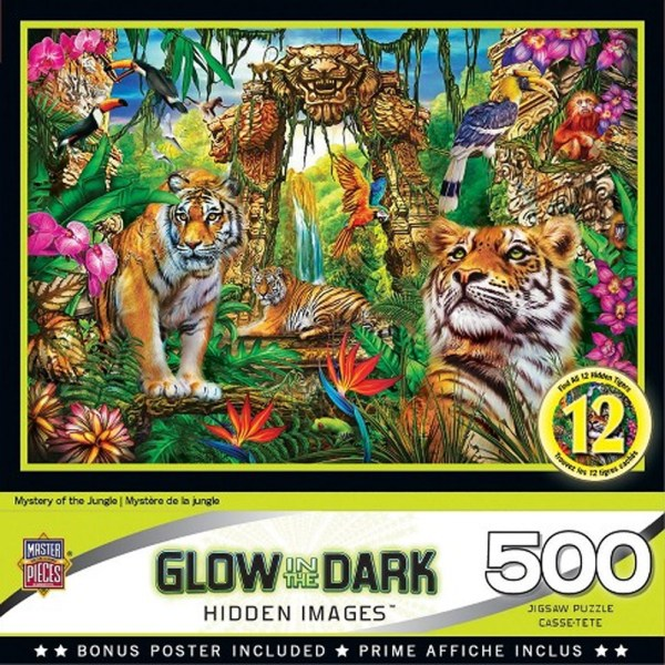 500 PIEZAS – MYSTERY OF THE JUNGLE GLOW IN THE DARK