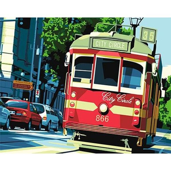 CUADRO PINTURA AL OLEO – TRANVIA SAN FRANCISCO 40X50