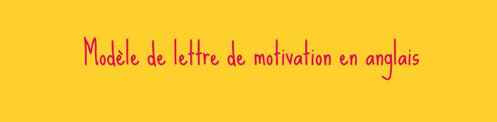 Lettre De Motivation Anglais Archives Cv Anglais Fr