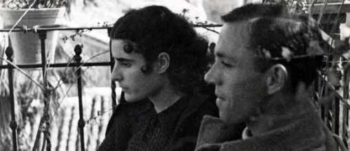 Miguel Hernández con Josefina Manresa en Jaén, en marzo de 1937.