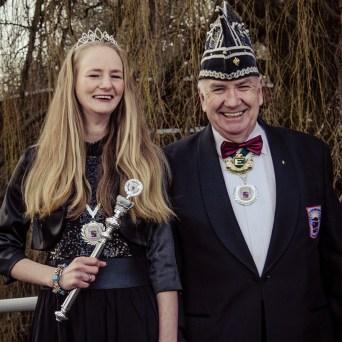 Voorzitter Jan met Prinses Cindy