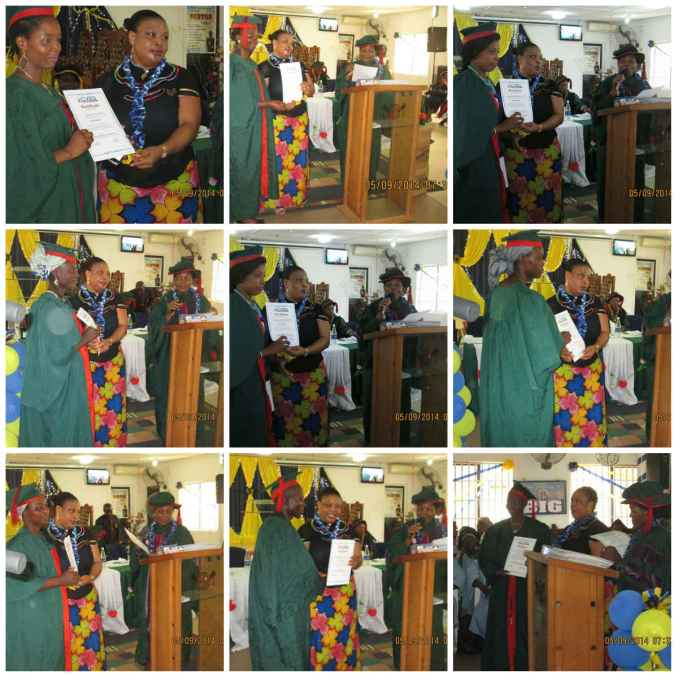 Mrs. Akosile Abosede presenting certificates