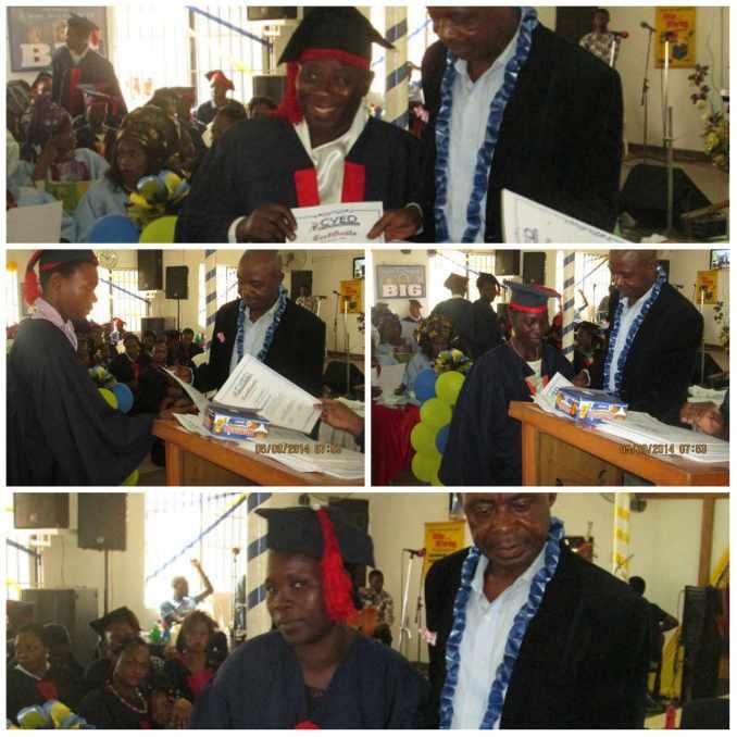 Elder Ayanwale presenting certificates