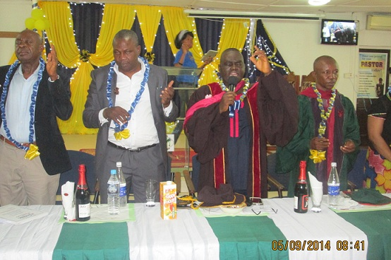 Closing prayer by Rev. David Olatona