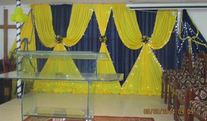 Altar Decoration, as done by the graduating Events Planning and Decoration students