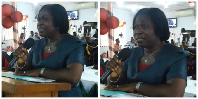 Deaconess Ikusika during her speech