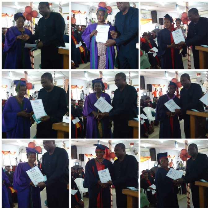 Gabrield Oyedeji presenting certificates