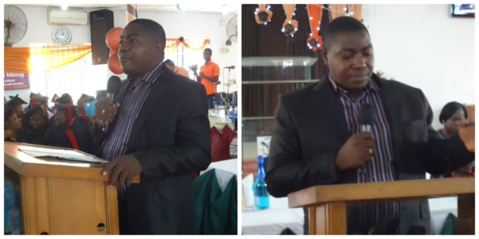 Pastor Jide Esan during his welcome speech