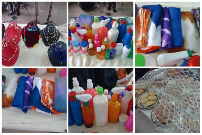 Products made by graduands displayed