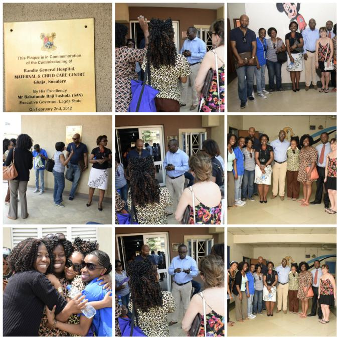 The team visiting Randle General Hospital (Maternal & Child Care Centre)
