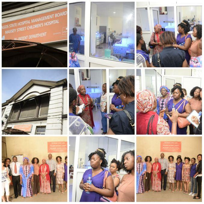 The team visiting Massey Street Children's Hospital
