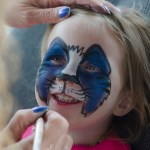 Face painting in the CVEX kidzone