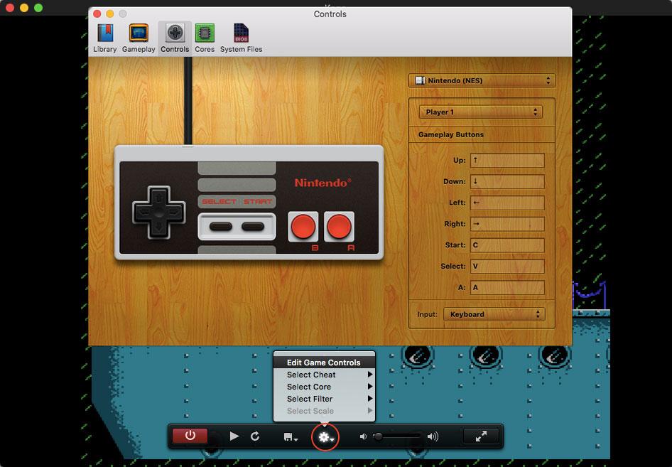 kết nối và thay đổi nút tay cầm dễ dàng với OpenEmu