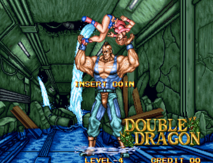 Double Dragon Neo Geo Game P1