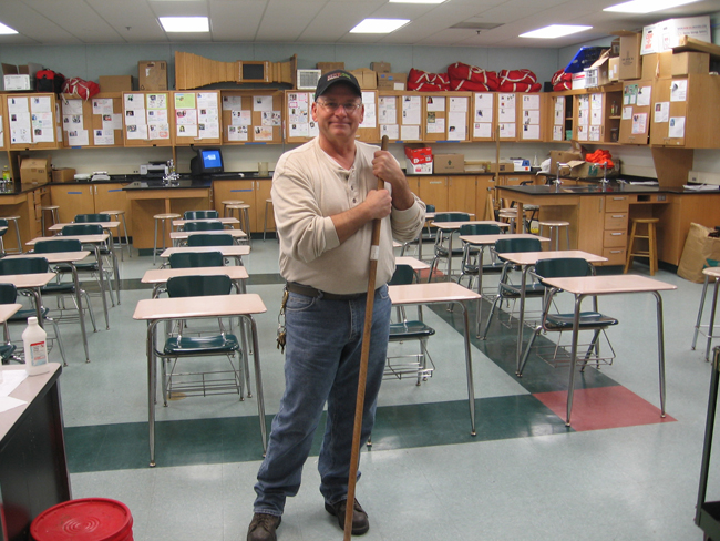 CVHS custodians give tips to keep school clean