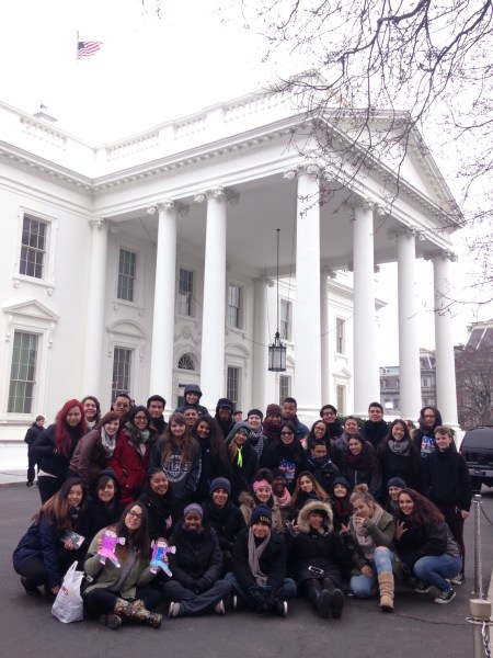 Touring the White House was the group's grand finale.