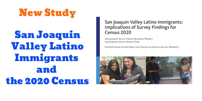 San Joaquin Valley Latino Immigrants and the 2020 Census Report