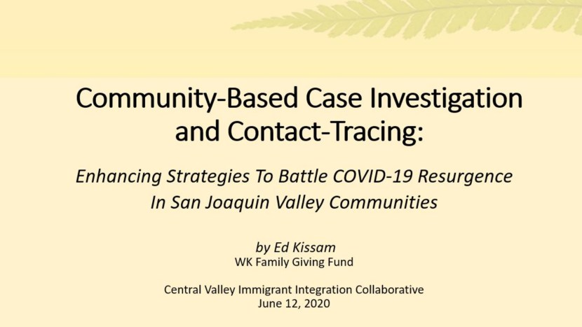 COVID-19 Contact Tracing Strategies Webinar 6 12 20