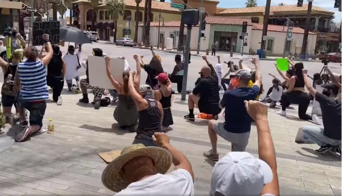 Screenshot of Palm Springs Police Department video via Facebook