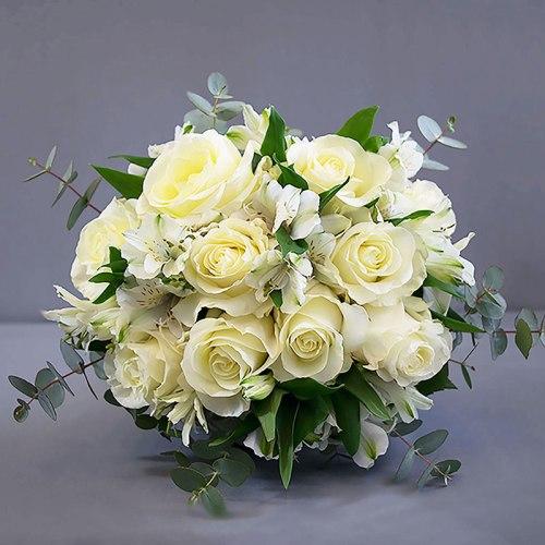 dostava-buket-cvijeća-bijele-ruže-alstromerije