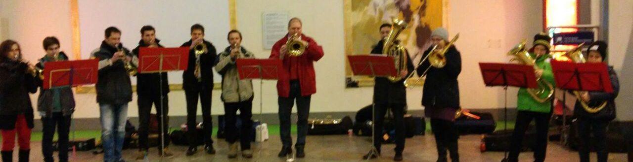 25.12.2015 Traditionsblasen am Stuttgarter Hauptbahnhof