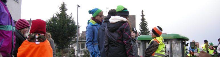 11.01.2014 Christbaumsammlung bei strömendem Regen