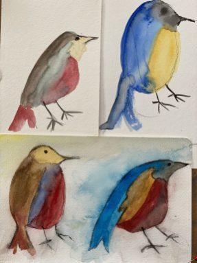 Annie Wattles: Watercolor flock