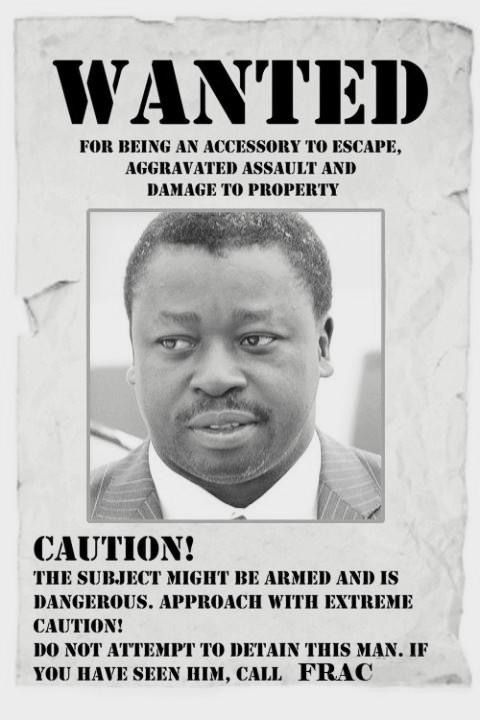 """Résultat de recherche d'images pour """"faure gnassingbé wanted"""""""