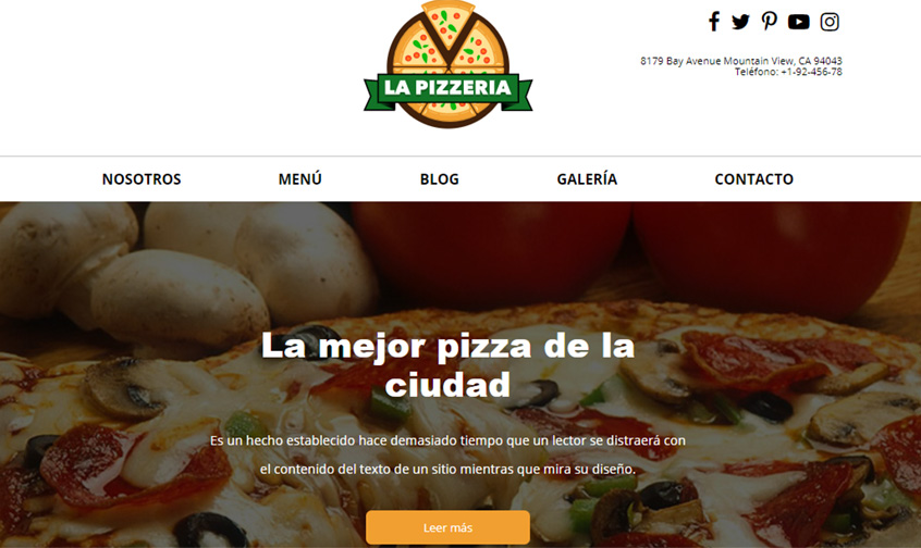 pizzeria encabezado