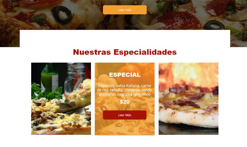 pizzeria especialidades