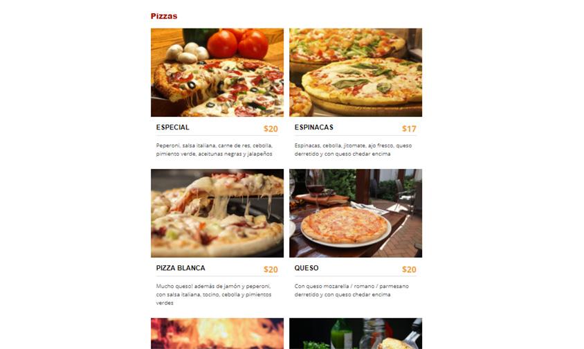 pizzeria listado