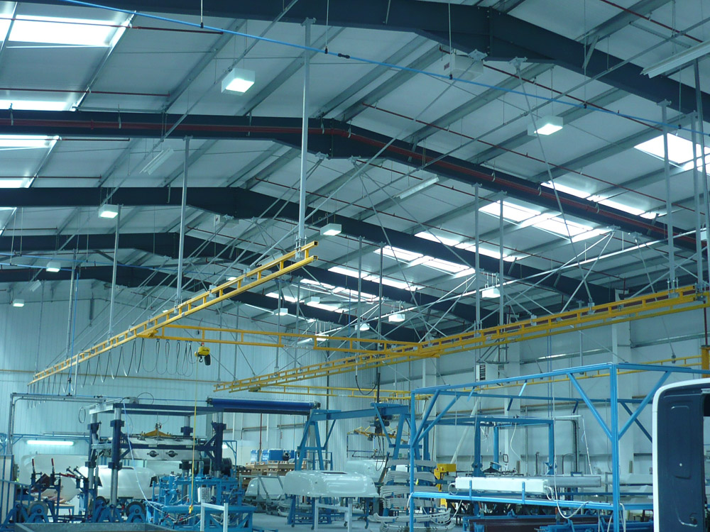 Ceiling Mounted Enclosed Track Workstation Crane Runway ...