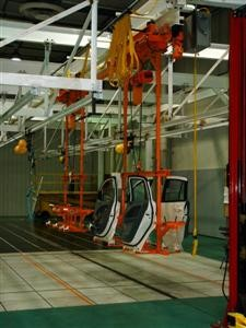 Door Caarriers on Production Line