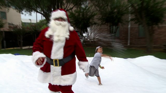 Houston kids celebrate Christmas in July