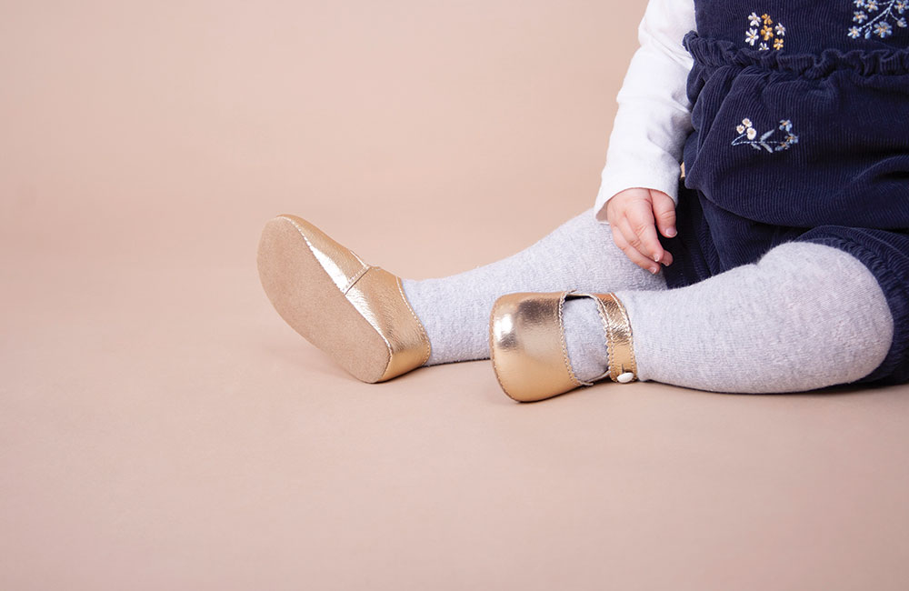Gold Early Days childrens shoes
