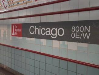CTA Chicago Red Line Square