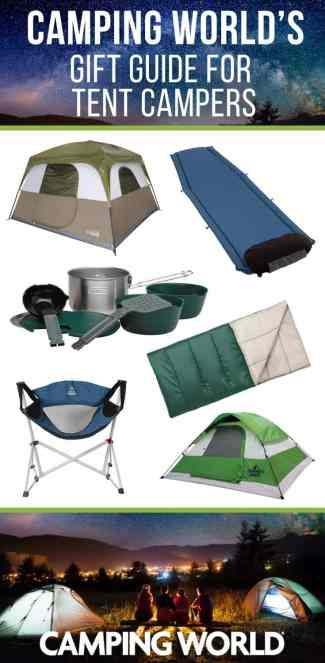 Camping World's gift guide for tent campers