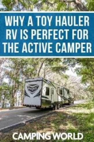 Why a toy hauler RV is perfect for the active camper