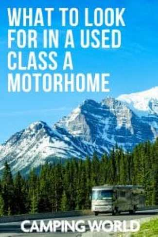 What to look for in a used motorhome