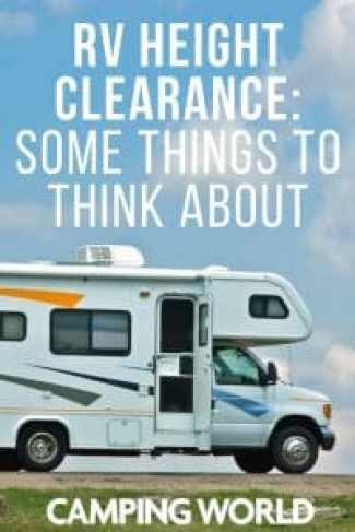 RV height clearance - some things to think about