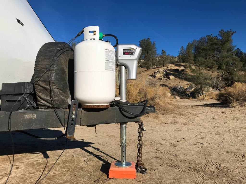 electric trailer jack