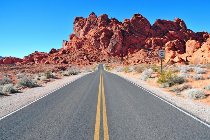a desert road