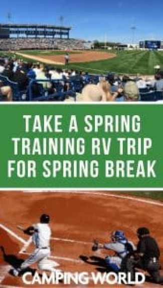 If you're looking for sunshine, fun, and sports for your spring break adventure, consider visiting Arizona or Florida for Major League Baseball's Spring Training. In these prime destinations, your whole family can enjoy a day at the ballpark watching your favorite big league stars play in smaller stadiums without breaking the bank. #baseball #springtraining #rvlife #rvcampers #rvhack #rvliving #camper #camping #camperlife #happycamper