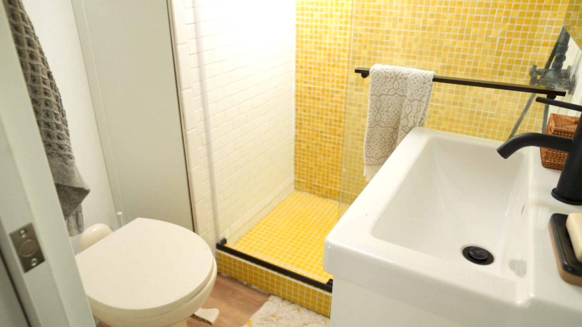 RV bathroom after