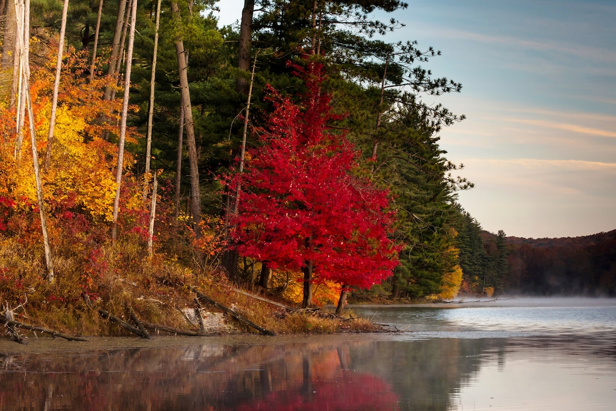 October Color at Lake Hope in Ohio