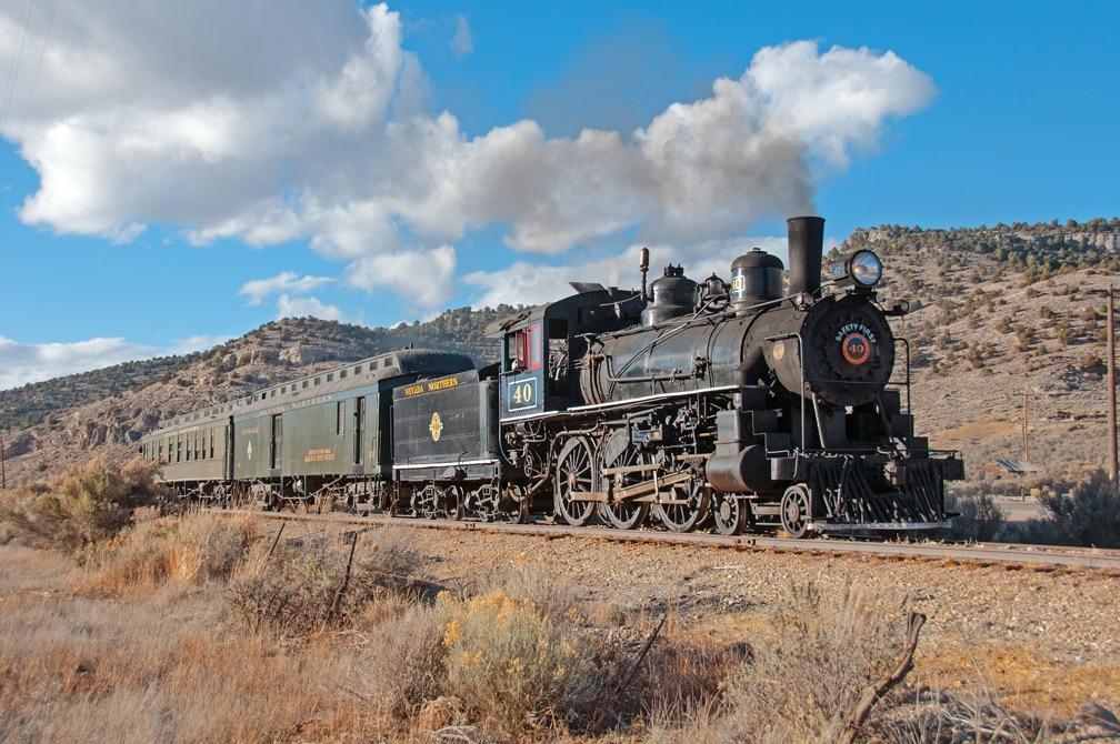 Nevada Northern Train on the Tracks