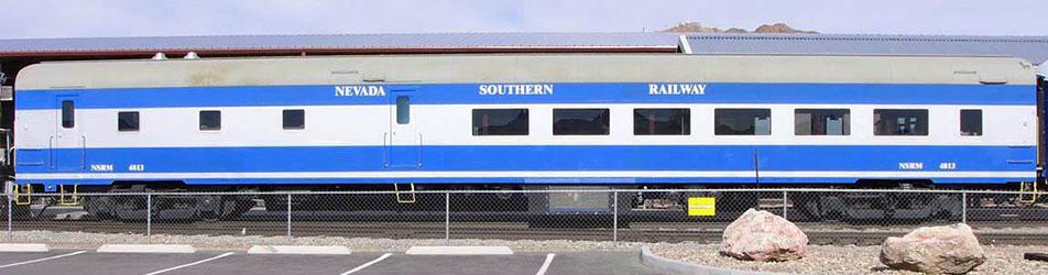 Nevada Southern Dining Car on Tracks