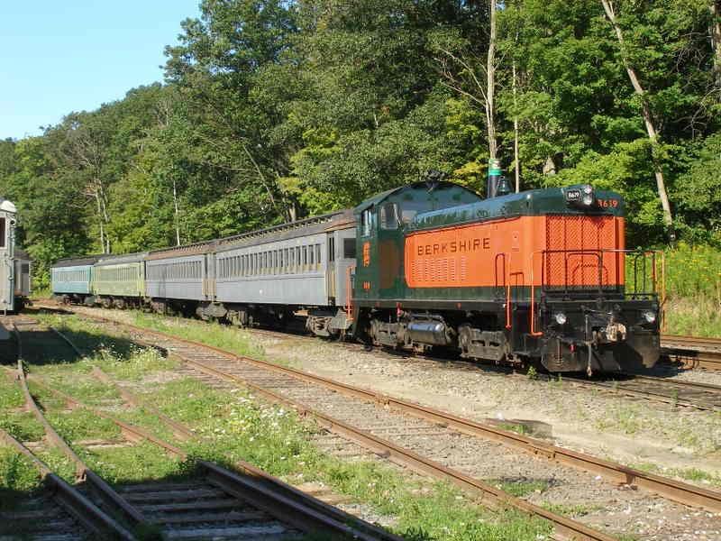 Berkshire Train on Tracks