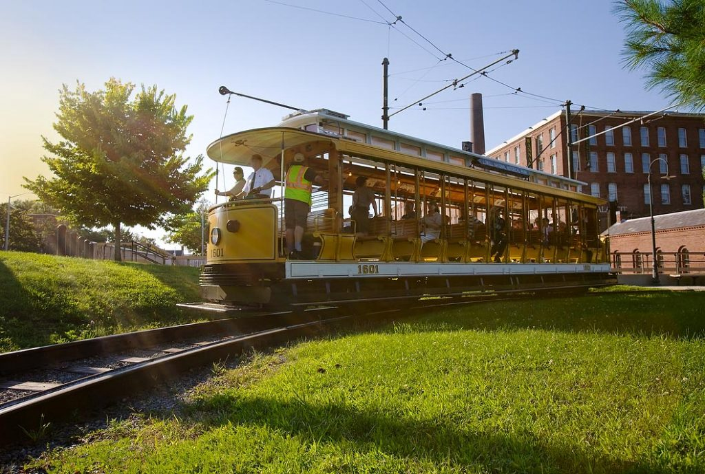 Trolley Car in Lowell National Historical Park